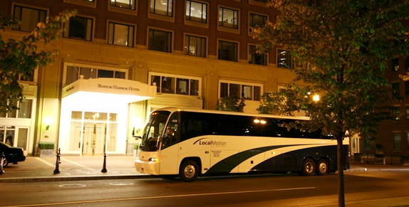 Coach Charter at Boston Harbor Hotel