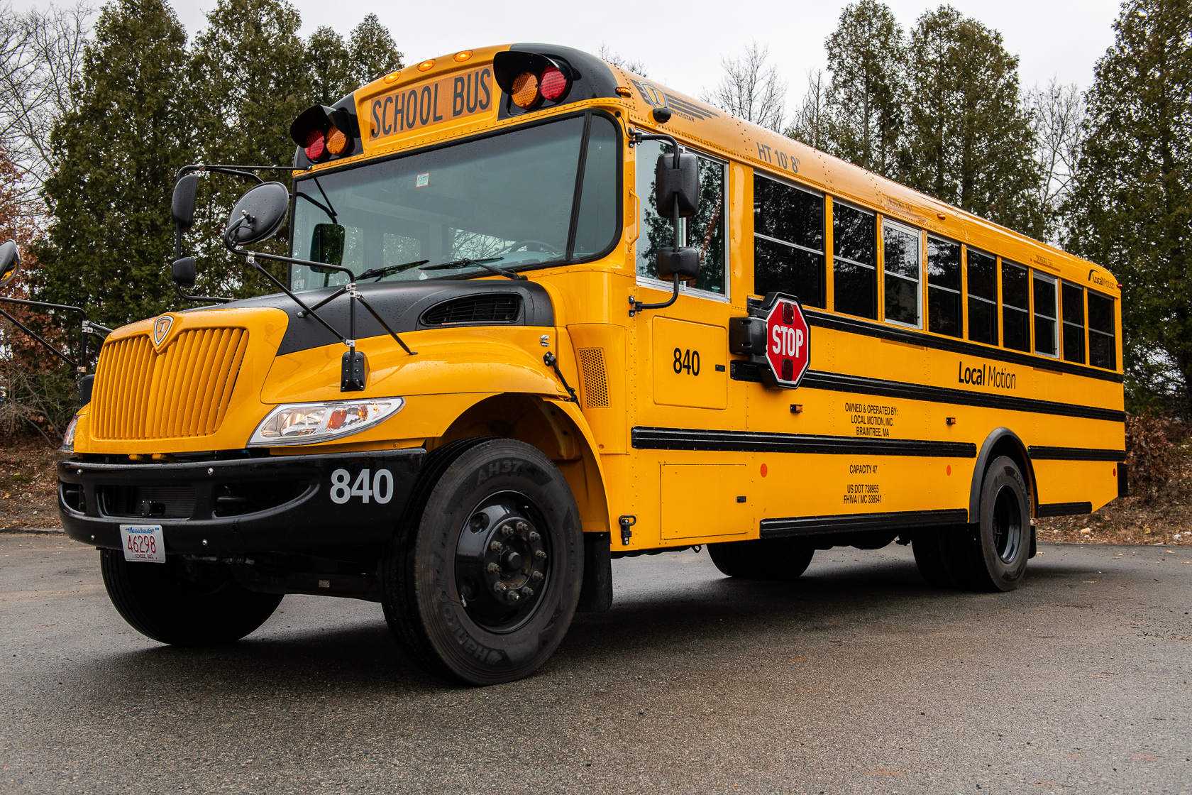 Mid Range Sized School Bus Exterior