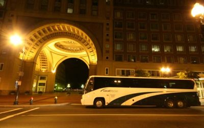 Bus Stop at the Boston Harbor Hotel at Rowes Wharf