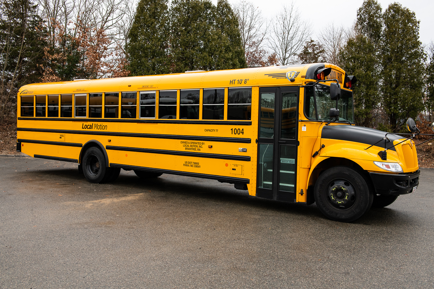 High Capacity School Bus From Local Motion Exterior