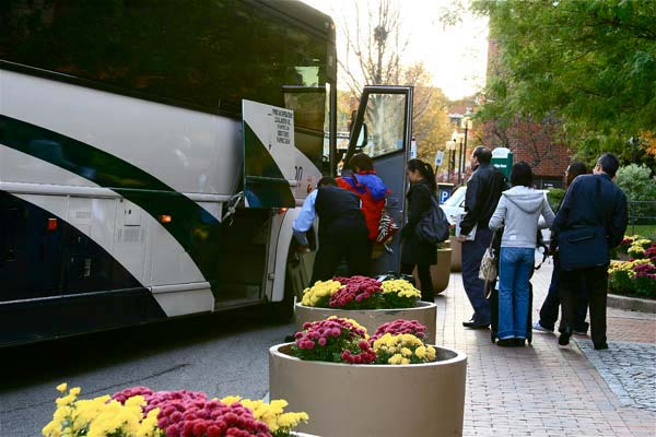 Where in Boston are these Passengers Boarding the Bus?