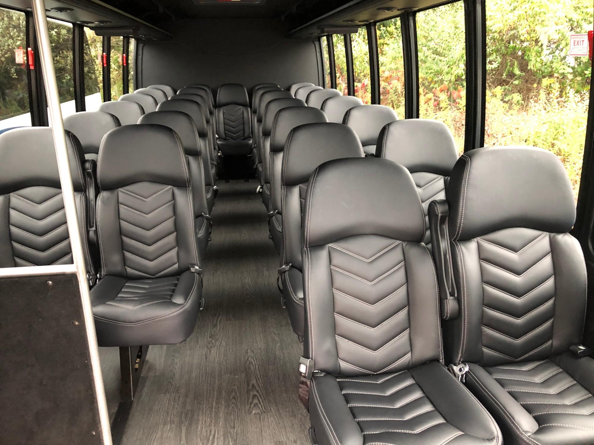 Boston Mini Coach Bus Rental Interior View