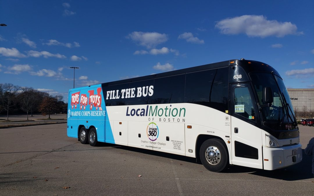 """Local Motion of Boston Sponsors Marine Corps """"Fill The Bus"""" Campaign"""
